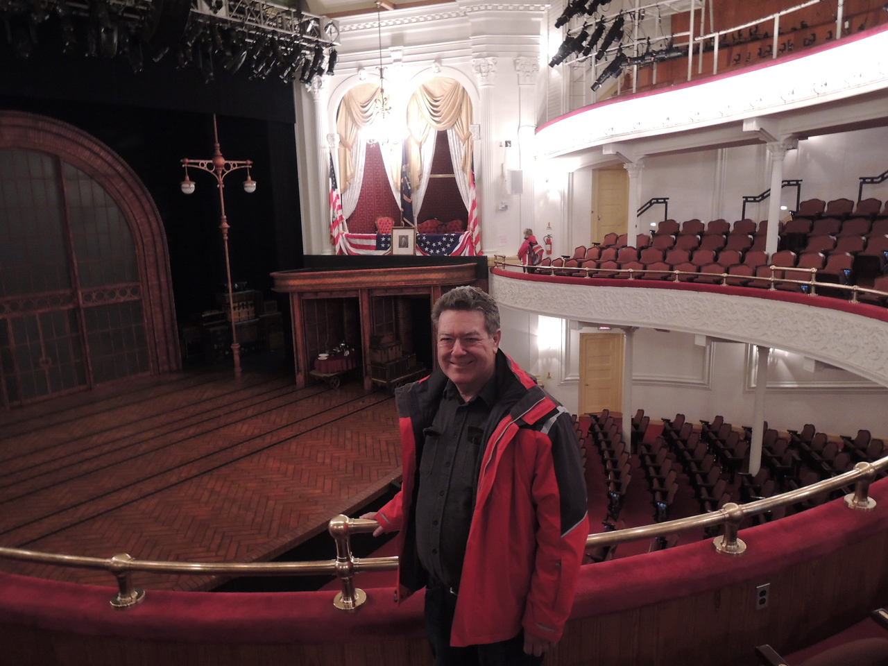 Dave at Fords Theatre.