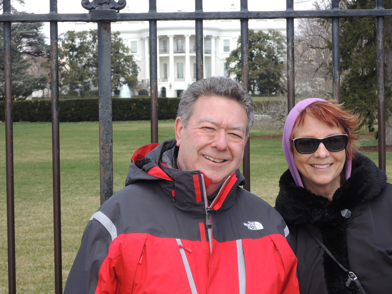 Dave and Kathleen outside the White House.