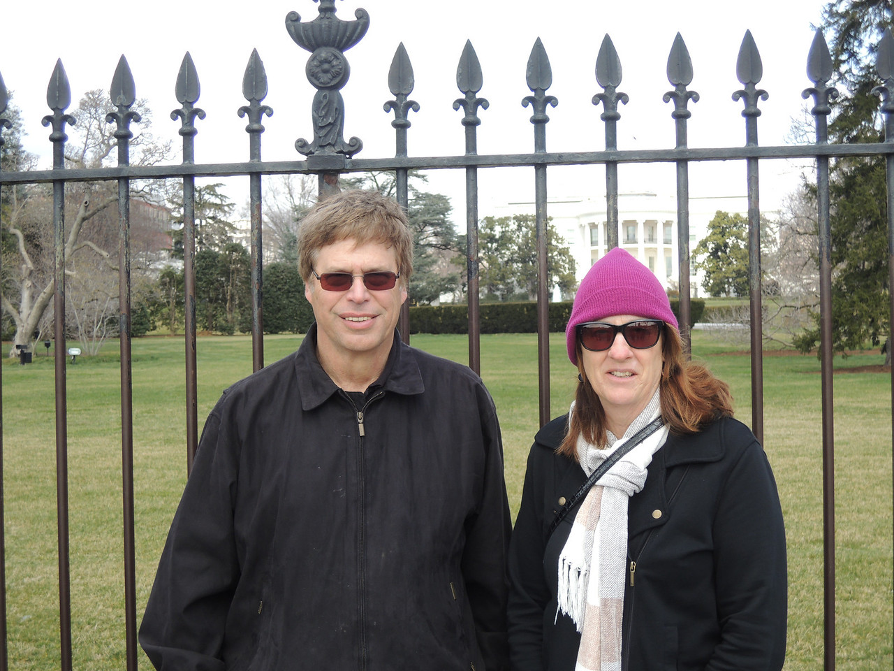 Jim and Margie outside the White House.