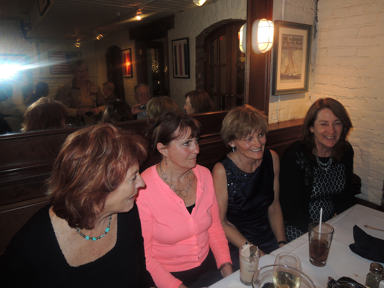 The sisters at the Rehearsal dinner.