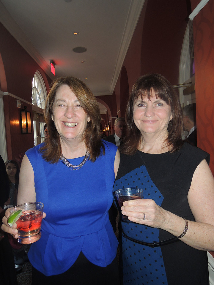 Margie and Barb enjoying the first drinks of the evening.