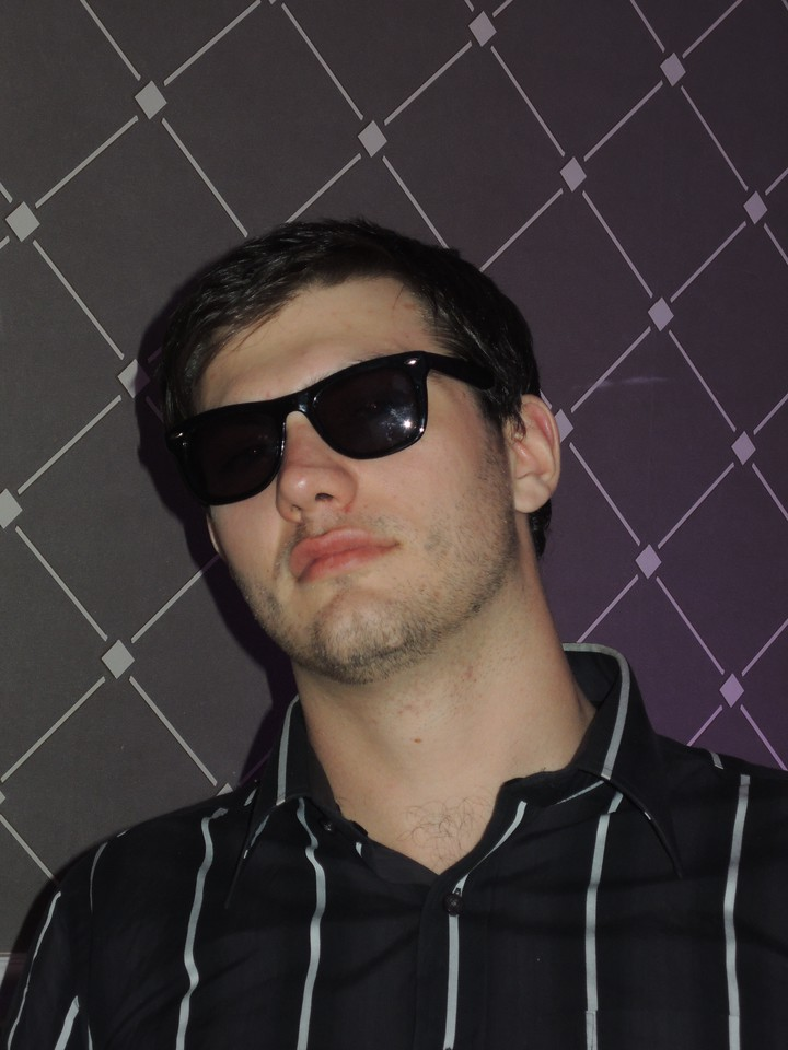 Ted, very cool in his Cheap Sunglasses.
