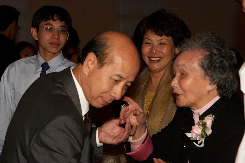 Uncle Peter, Aunt Mei, cousin Ming and Grandma Tow