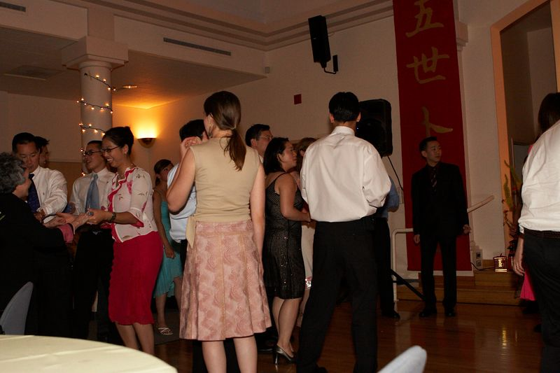 Guests move to the dance floor