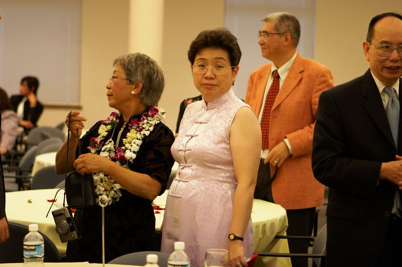 Adam's parents and Professor Chan