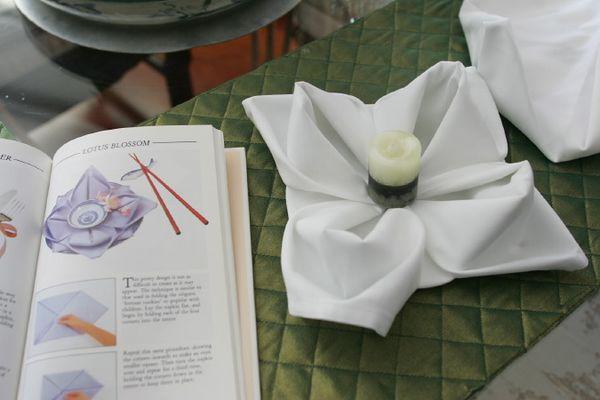Learning the art of napkin-folding