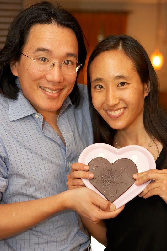 Adam, Rae, and chocolate heart