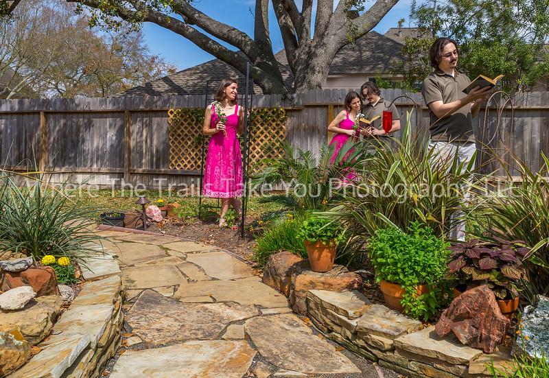 Multiple Kyles and Adriennes - Garden Closeup