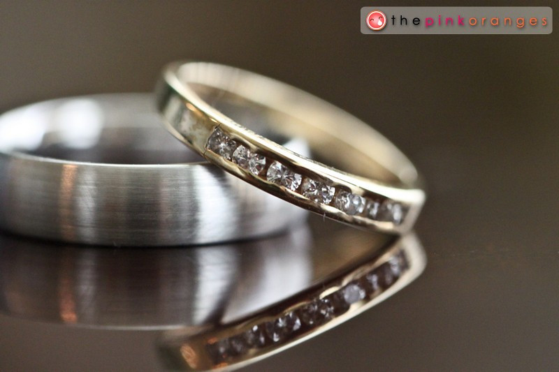 We got a beautiful shot of the rings while Aimee and Patrick were getting ready for their big day.