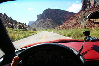 Driving Into the Canyon