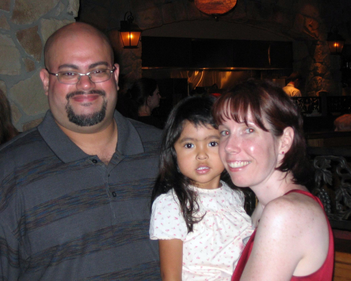 Michele and I with Joe's daughter Gwen.
