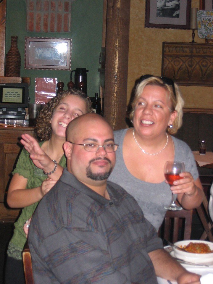Me and my cousin Rachel and her daughter Becky.