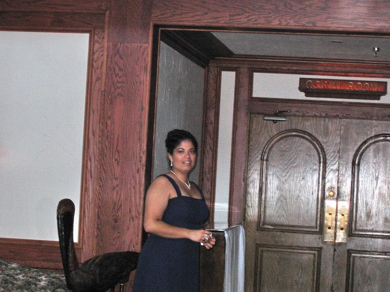 Tamara in her bridesmaid gown.