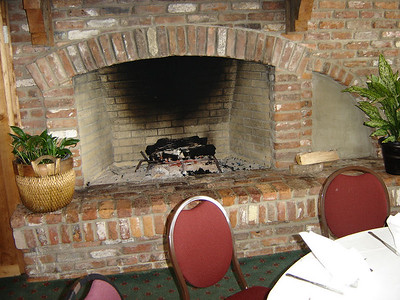All the rooms have fireplaces.