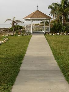 Sidewalk leading up to the pavilion.