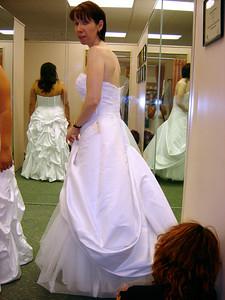 Back side of the dress.