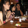 One of the worst photos ever of Alisa, Alice, and Chun. (bad photo credit: Chris)