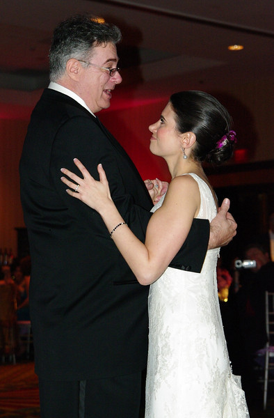 Allison and her father dancing