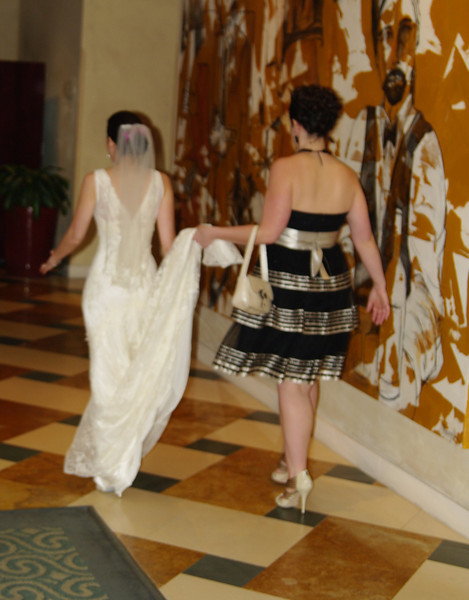 Allison heading over to the ketubah signing
