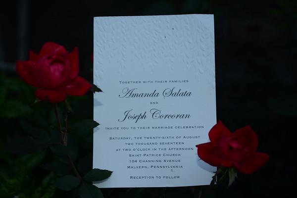 Amanda and Joseph Corcoran Wedding 8-26-17