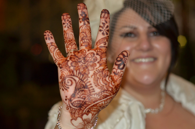 One of my favorite photos of the night... Nicole showing off her henna.