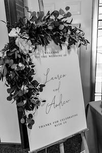 01699©ADHPhotography2020--AndrewLaurenCarpenter--Wedding--JULY18bw