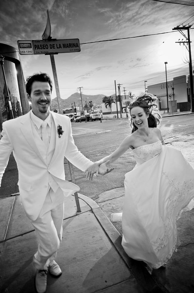 CABO SAN LUCAS, MEXICO Ñ Ange Billman and Andrej Maihorn's Trash The Dress wedding shoot. Photo taken by Tom Sorensen, Sunday June 7th, 2009.