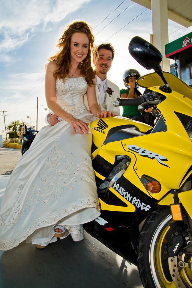 CABO SAN LUCAS, MEXICO — Ange Billman and Andrej Maihorn's Trash The Dress wedding shoot. Photo taken by Tom Sorensen, Sunday June 7th, 2009.