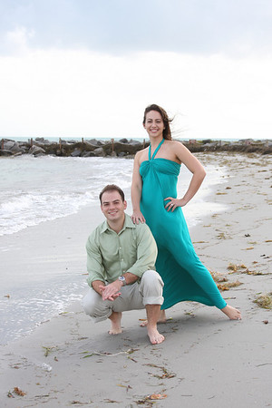 Angie and Jesse Beach session