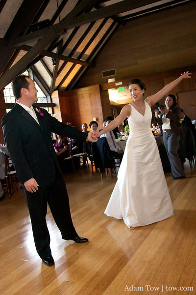 Rae and I were not so elaborate with our first dance.