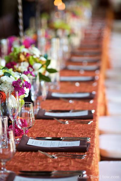 Long table settings