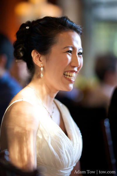 Ann is all smiles on her wedding day