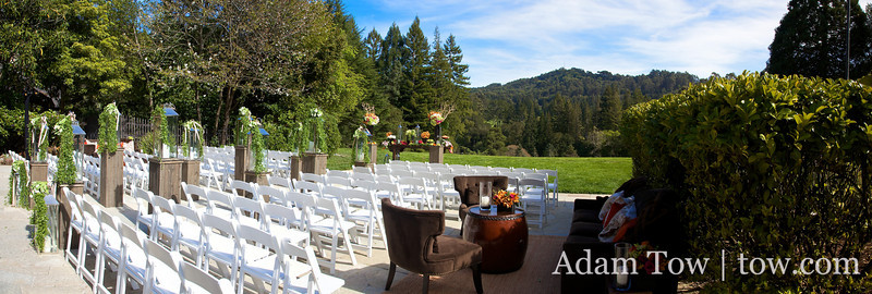 Panorama of the ceremony area