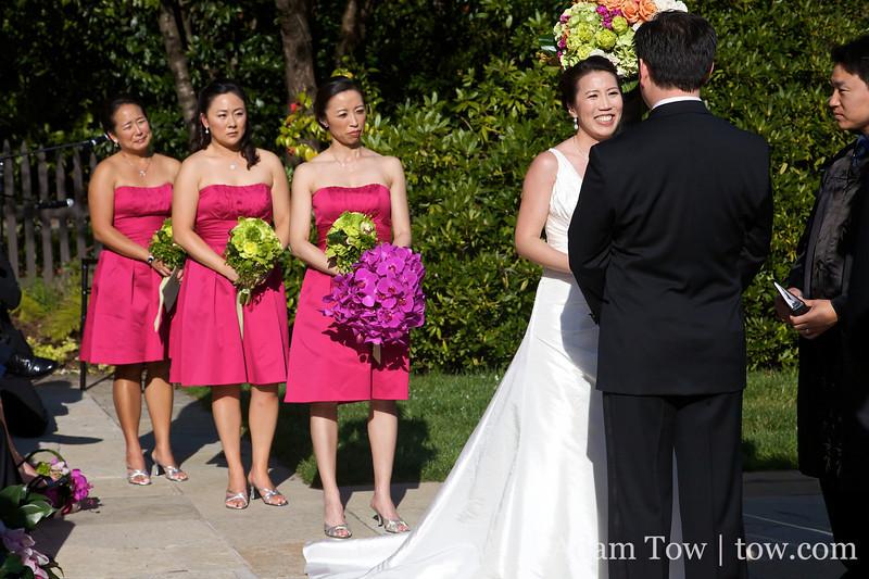 Ann, John, and Ann's bridesmaids