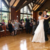 John and Ann share their first dance in front of their friends and family.