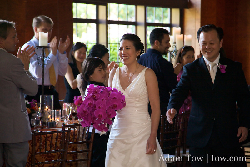 Ann and John make their big entrance