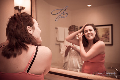 Anna & Brent's getting ready photos at The Omni Golf Resort, Tucson Arizona