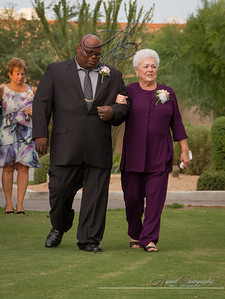 Anna & Brent's wedding ceremony photos at The Omni Golf Resort, Tucson Arizona