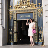 Annika on the steps of S.F. City Hall waiting for her posse to arrive.