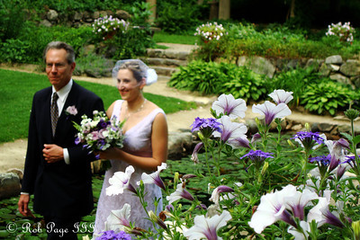Anthea walks down the aisle - Boston, MA ... July 2, 2011 ... Photo by Rob Page III