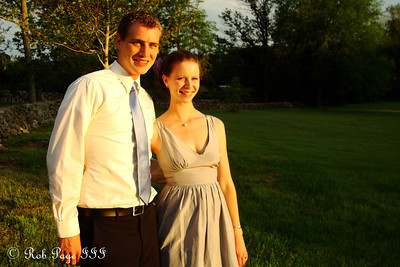 Rob and Emily at Anthea and Shamus' wedding - Boston, MA ... July 2, 2011