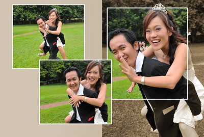 Running away .. together with the bride !!