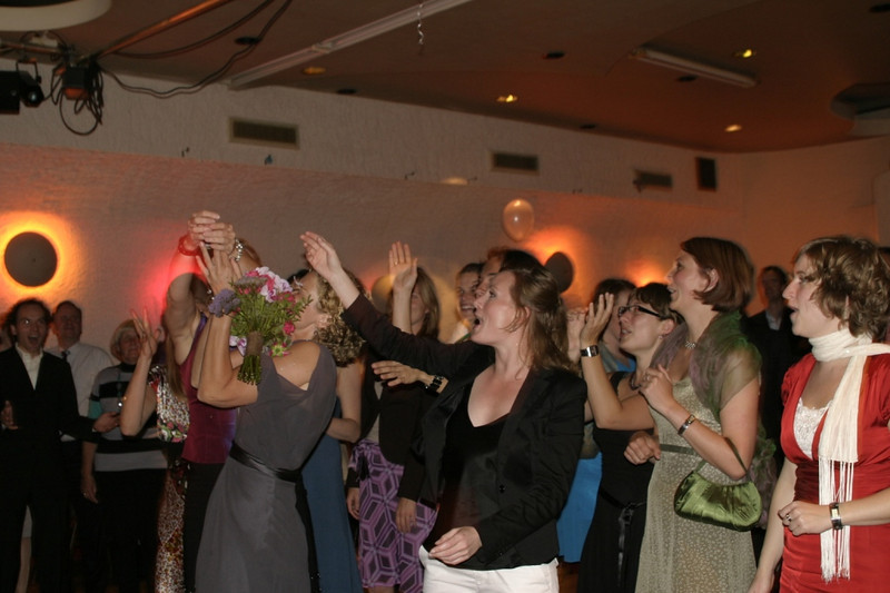 Throwing of the bouquet