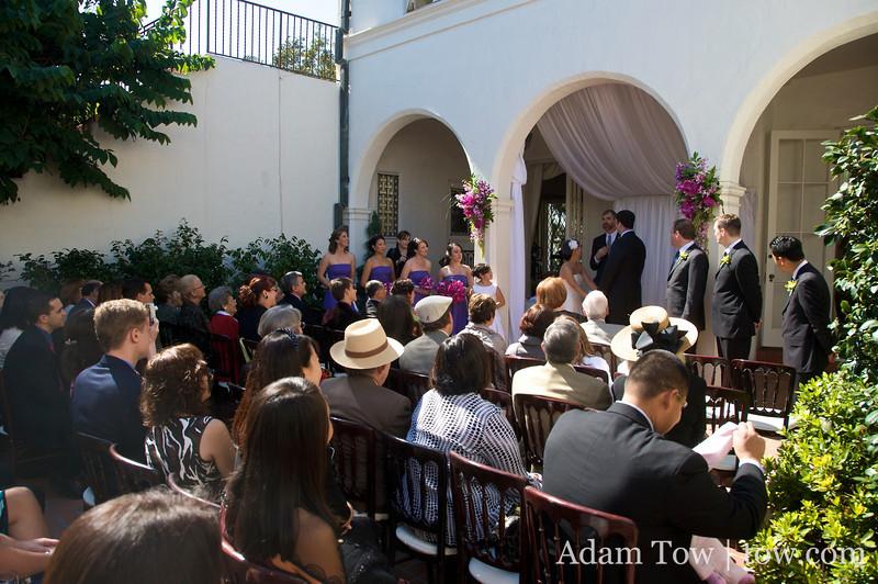 The wedding scene at the Darlington House in La Jolla, California.