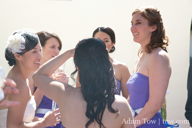 Audrey and her bridesmaids