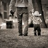 A little cowboy and his Tractor