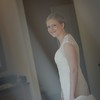 I shot this image through Christens veil, just before she put in on