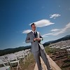 Wide angle shot of Groom alone