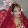 Decked in bridal finery....red is the color