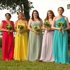 May 2016 Such colorful bridesmaid dresses